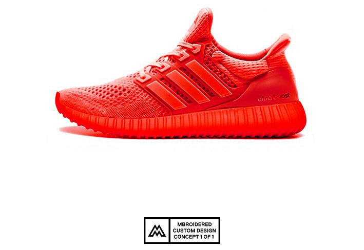 adidas Ultra Boost Yeezy 350 Sole: Red October