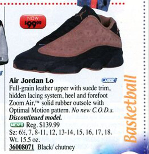 Air Jordan 13 Low Chutney in Eastbay Catalog 1999