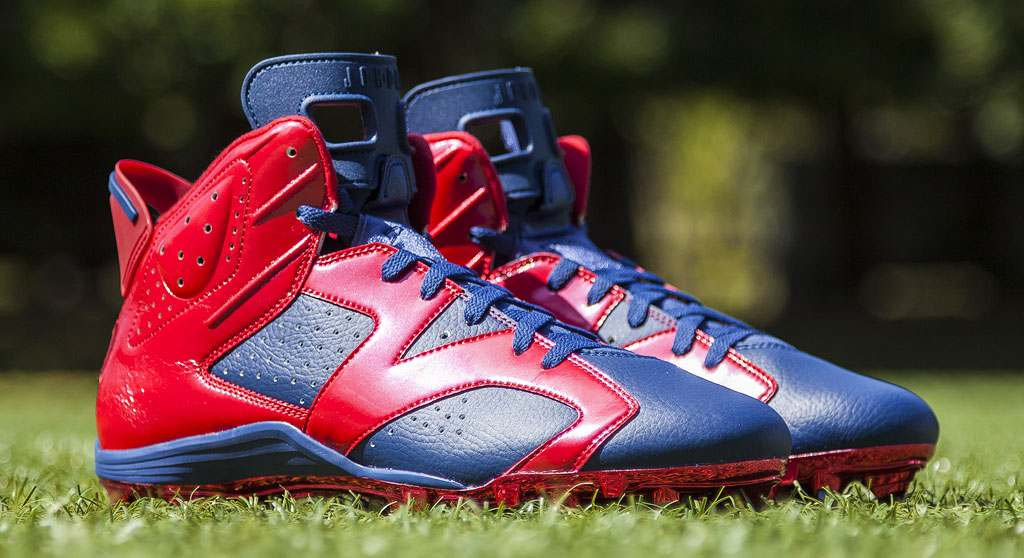 Andre Johnson's Air Jordan VI 6 Texans PE Cleats (1)