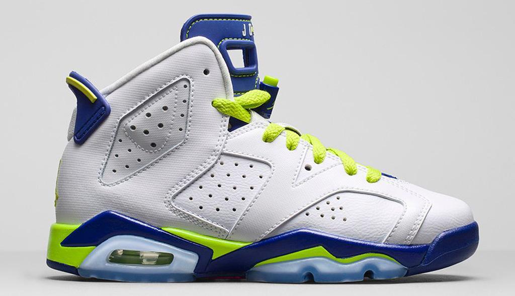 Shoe: Girls\\u0026#39; Air Jordan 6 Retro Colorway: White /
