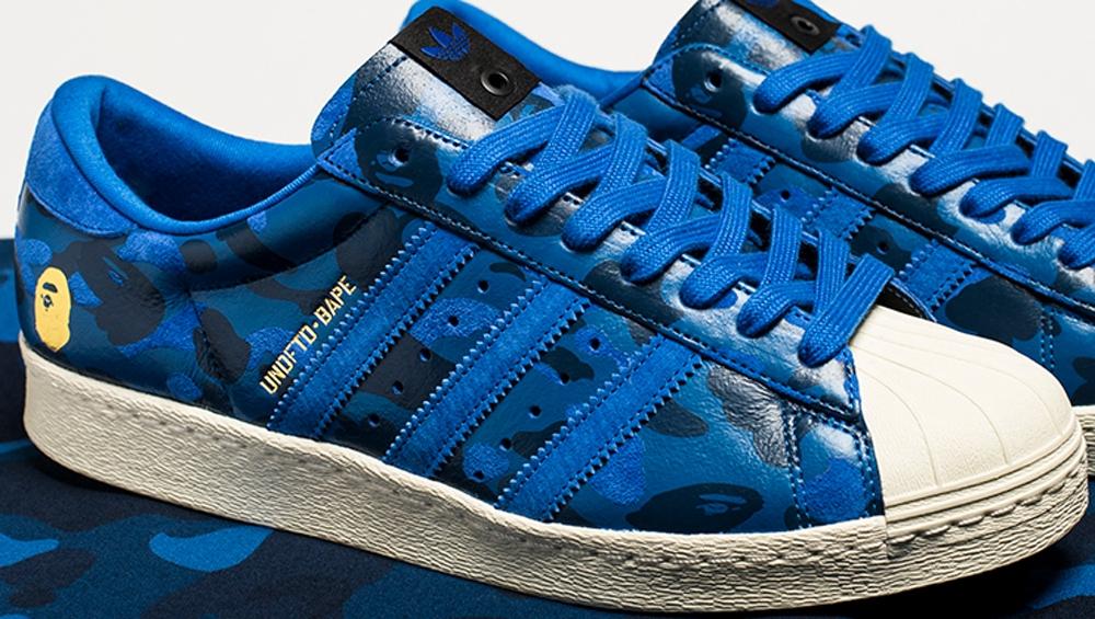 BAPE x adidas Originals Superstar 80s Blue Camo