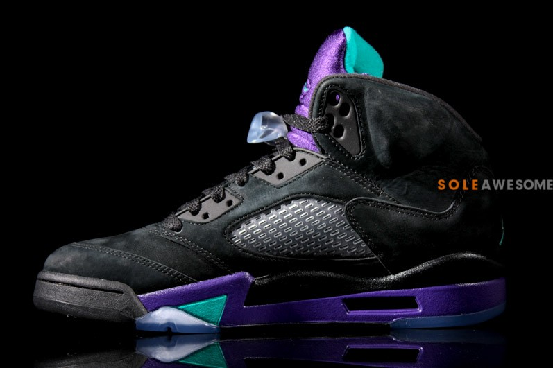 Air Jordan 5 Retro - Black/New Emerald-Grape Ice | Solecollector