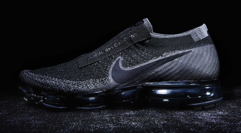 Image via Nike Black Nike Air VaporMax Comme des Garcons Laceless ac4640529