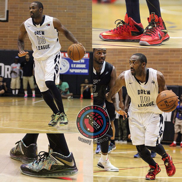 Gilbert Arenas Wears Nike LeBron X Celebration Pack  8d2a83898dfc