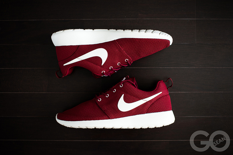 Nike Roshe runs reflective red colour way