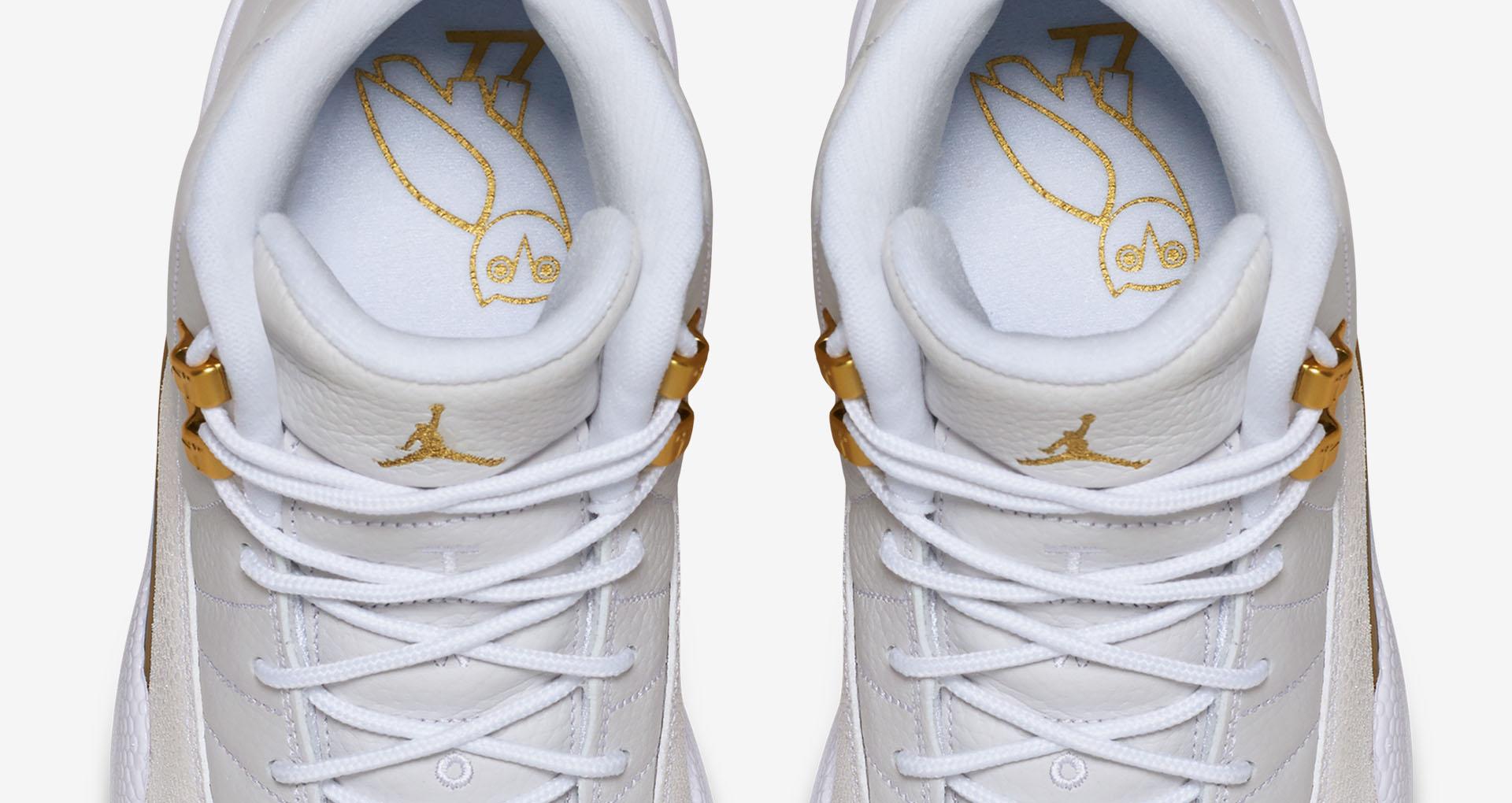 White OVO Jordan 12 Insole