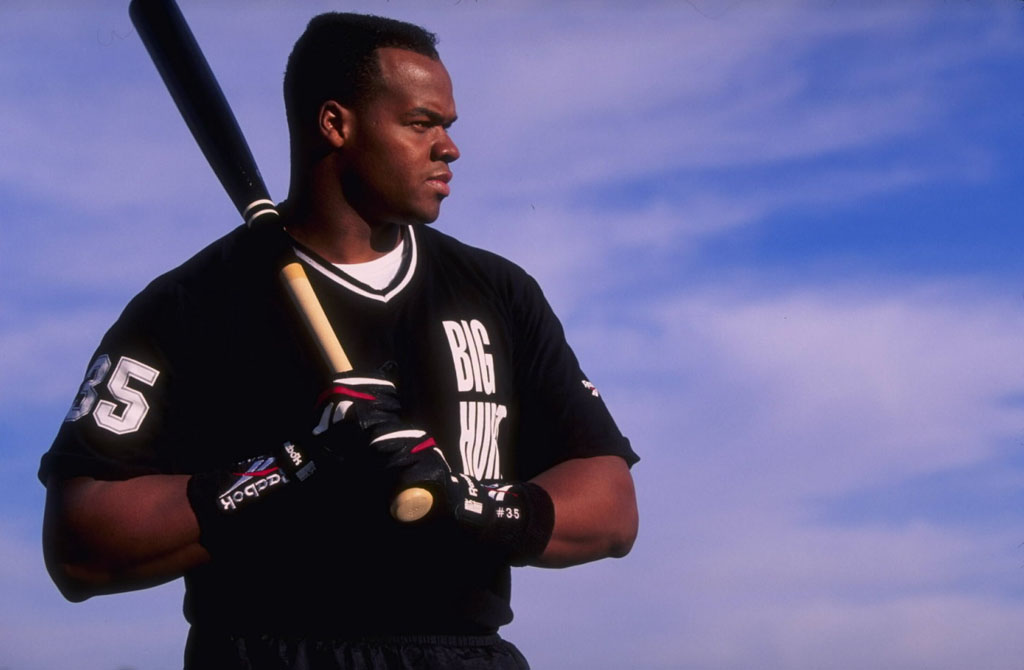 Frank Thomas Wearing Reebok Big Hurt