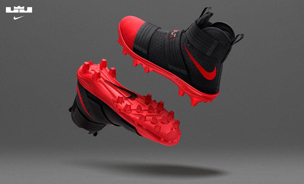 Nike LeBron Soldier 10 Cleats Ohio State