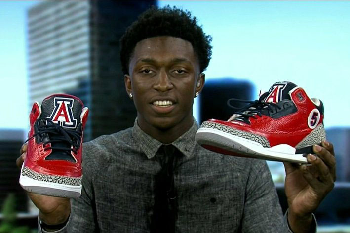 Stanley Johnson Announces College Decision with Air Jordan 3 Custom