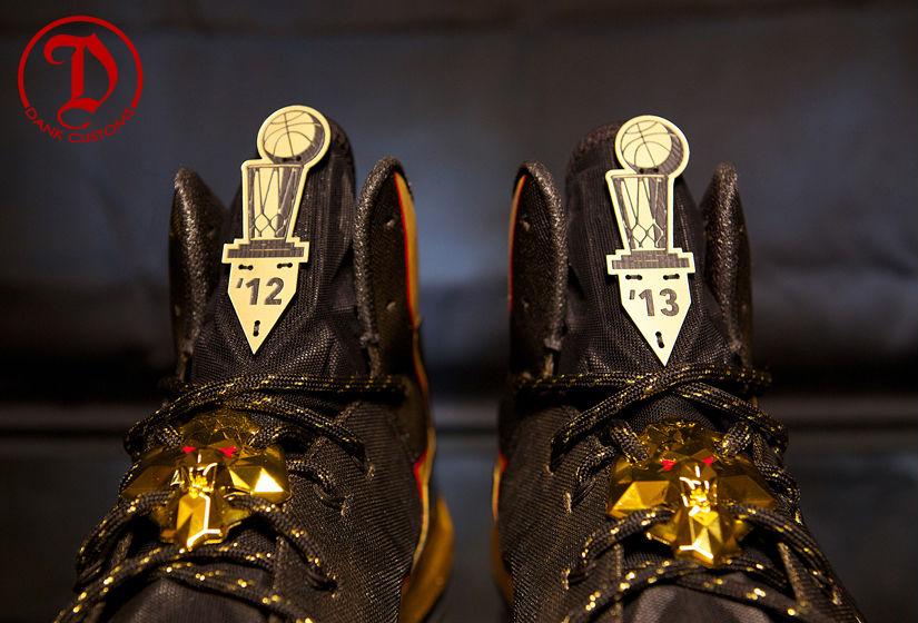e49165241ae3 Nike LeBron X PS Elite Championship For LeBron James By Dank Customs (11)