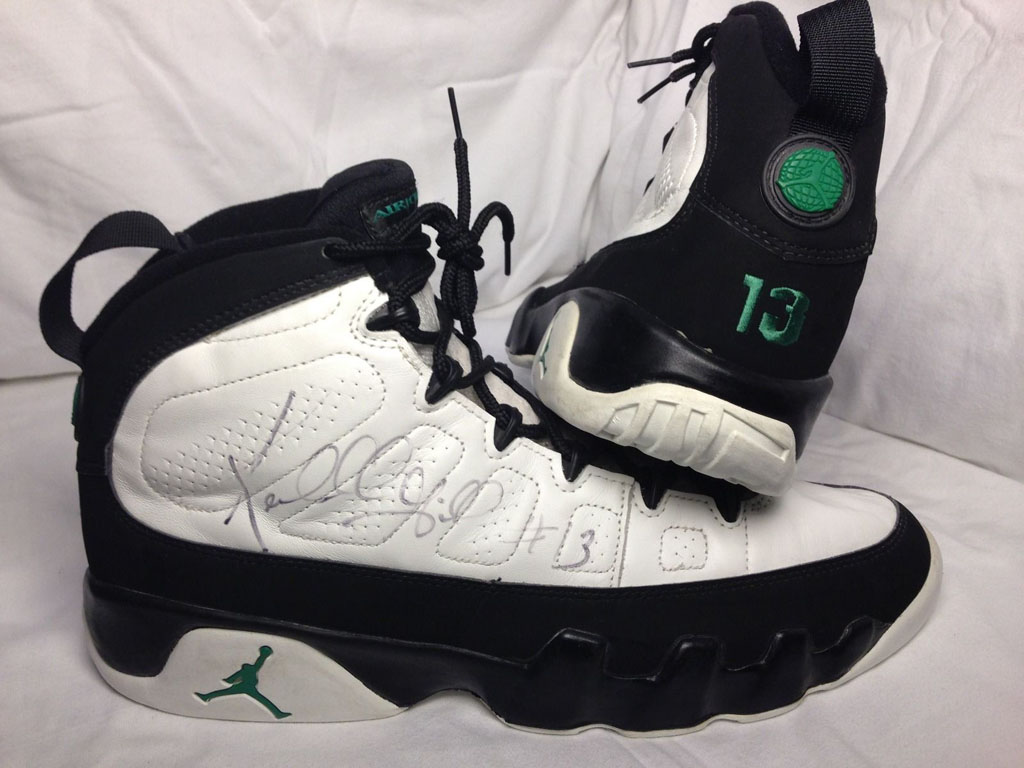 designer fashion 8af8d 978da Kendall Gill Air Jordan IX 9 Seattle Sonics PE (1)