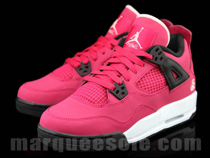 Air Jordan Retro 4 GS - Voltage Cherry/White-Black | Sole Collector