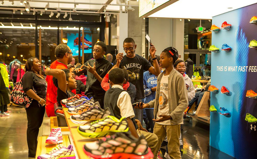 Raymond Felton Visits Under Armour Campus & Brandhouse (11)