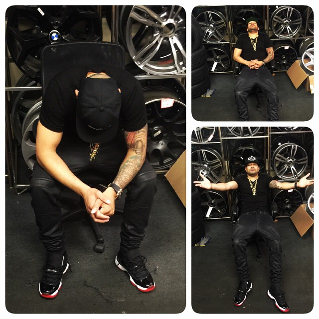 DJ Envy wearing the 'Bred' Air Jordan XI 11 Low
