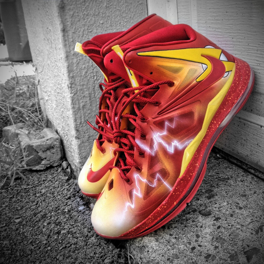 "Nike LeBron X ""The Flash"" by Mache Custom Kicks (1)"