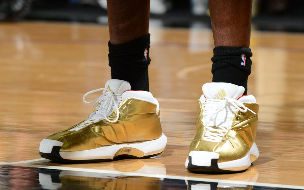 Kenneth Faried wearing adidas Crazy 1 Awards Season