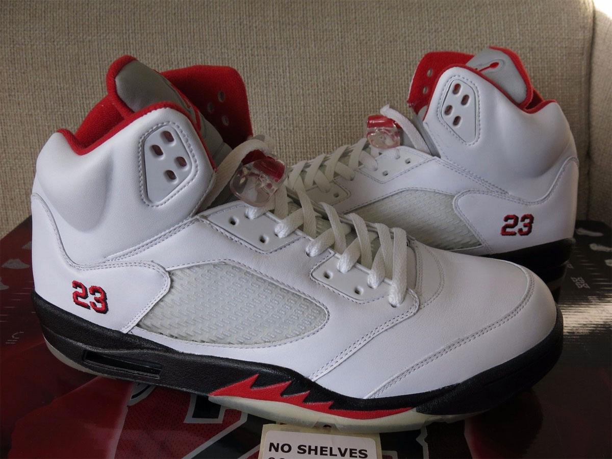 barato gran sorpresa wiki en línea Air Jordan 5 Rojo Fuego Ebay bIkvc