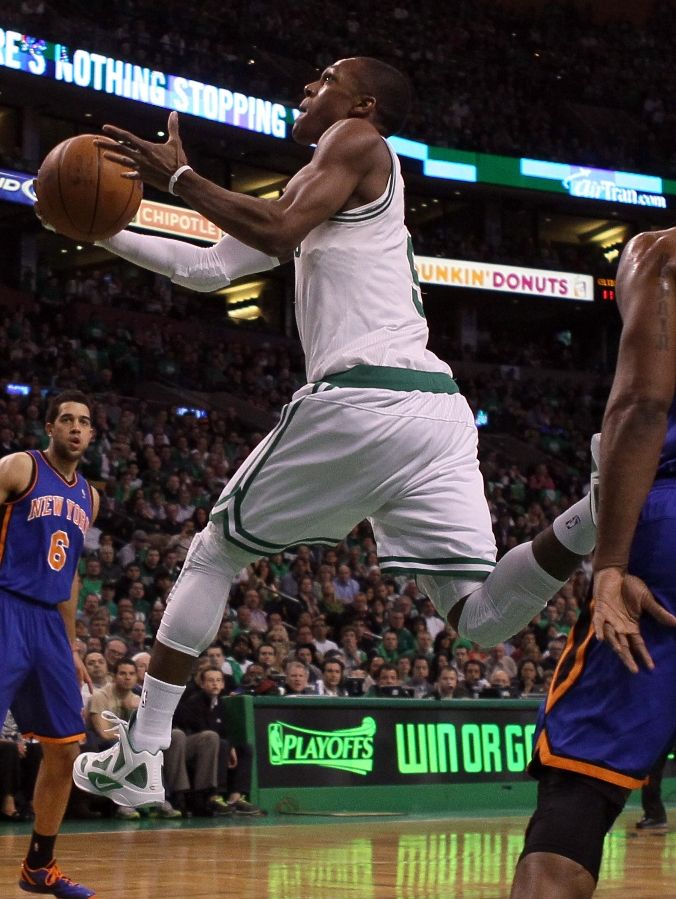 Rajon Rondo wearing the Nike Zoom Hyperfuse 2011