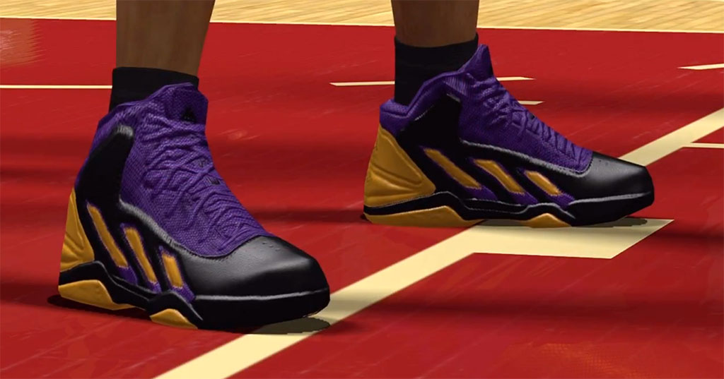 NBA 2K13 Sneaker Features // adidas adiPower Howard 3 Lakers