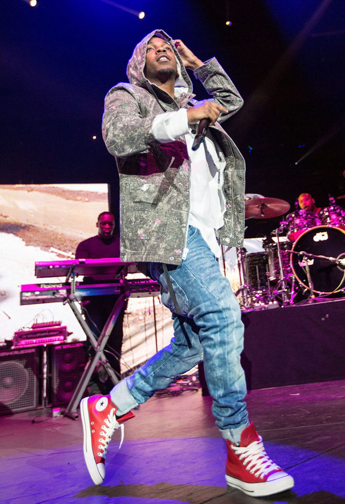 Kendrick Lamar wearing Converse Chuck Taylor All Star