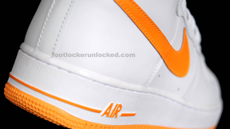 check out 64b62 4d677 Nike Air Force 1 High White Vivid Orange 315121-180 (10). via Foot Locker  Unlocked