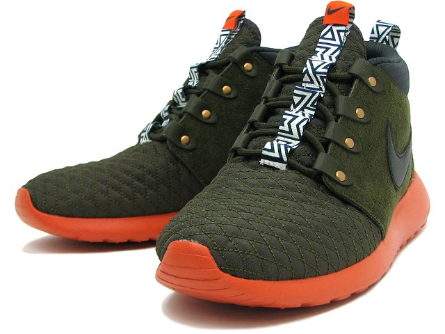0c0361c24af8 Nike Roshe Run Mid Winter - Dark Olive Orange