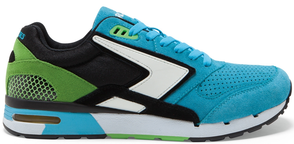 Brooks Fusion Cyan Blue/Black-Green Flash