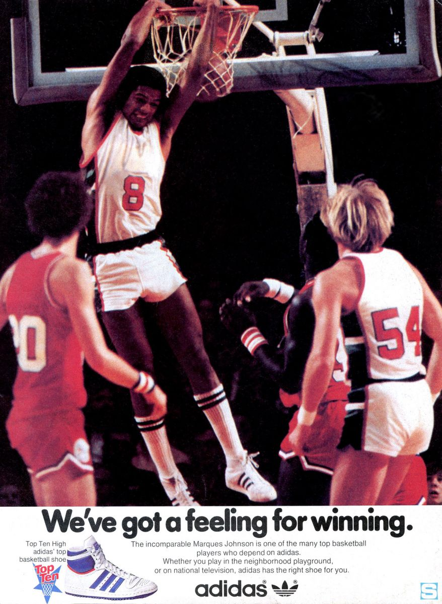 info for 45b00 4a7a1 This installment of the Vintage Ad series features five time NBA all star  Marques Johnson in an original ad for the adidas Top Ten.