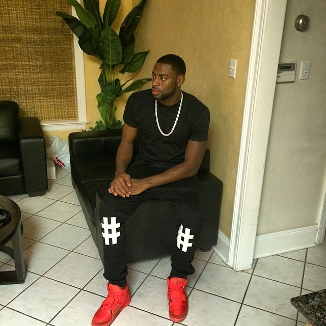 Tyreke Evans wearing Nike Air Yeezy II 2 Red October