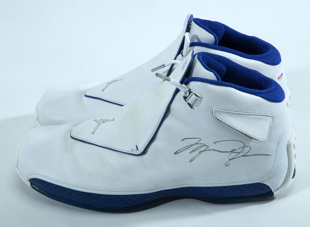 34fec30ad882b3 5 Pairs of Michael Jordan s Game-Worn Sneakers Are Being Auctioned ...