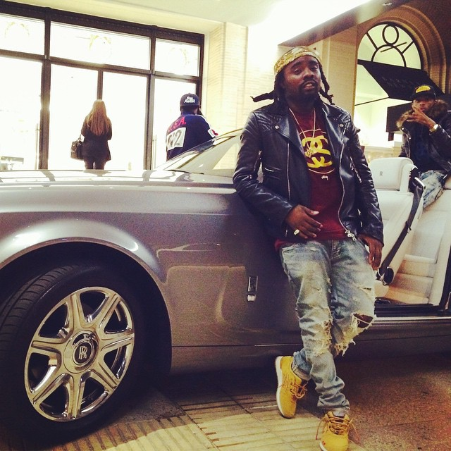 Wale wearing 'Honey Mustard' ASICS GEL-Lyte III