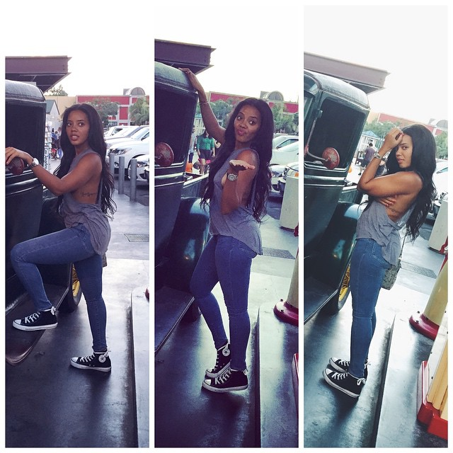 Angela Simmons wearing Converse Chuck Taylor All Star