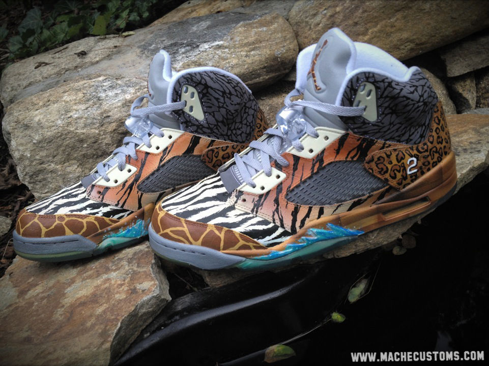 "Air Jordan V 5 Retro ""Noah's Ark"" by Mache Custom Kicks (1)"