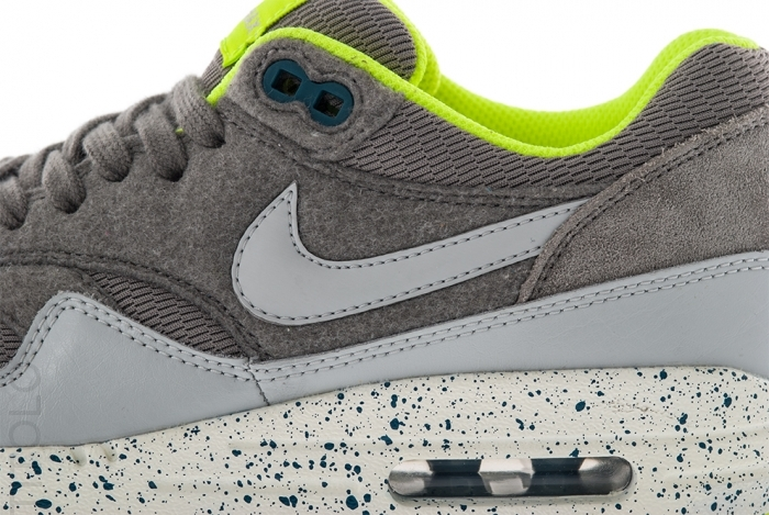 check out e10ef 77049 ... nike womens air max 1 canyon grey volt speckled midsole ...