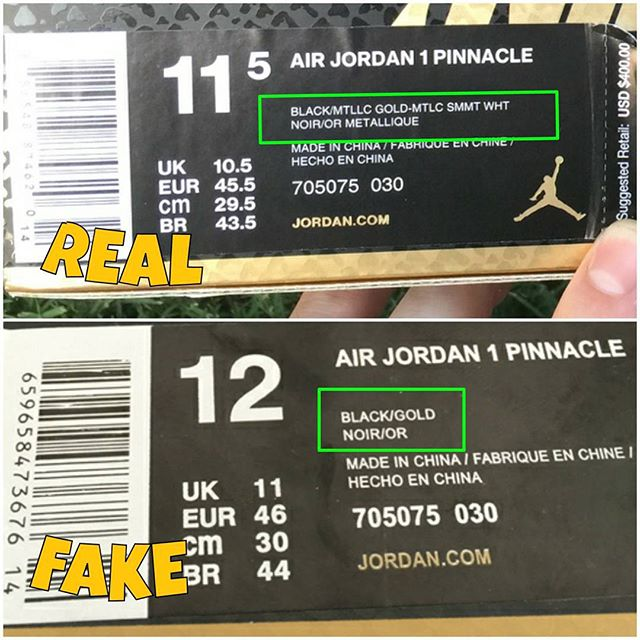 How To Tell If Your 'Pinnacle' Air Jordan 1s Are Real or Fake (