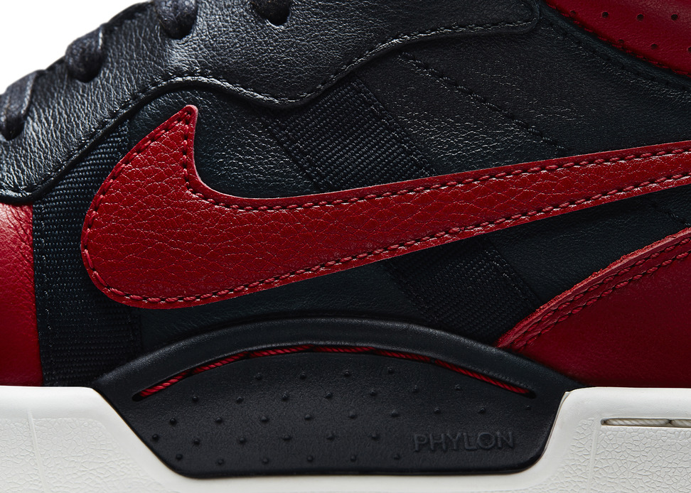 Marco Materazzi x Nike Tiempo 94 Air Jordan in Black Red Detail