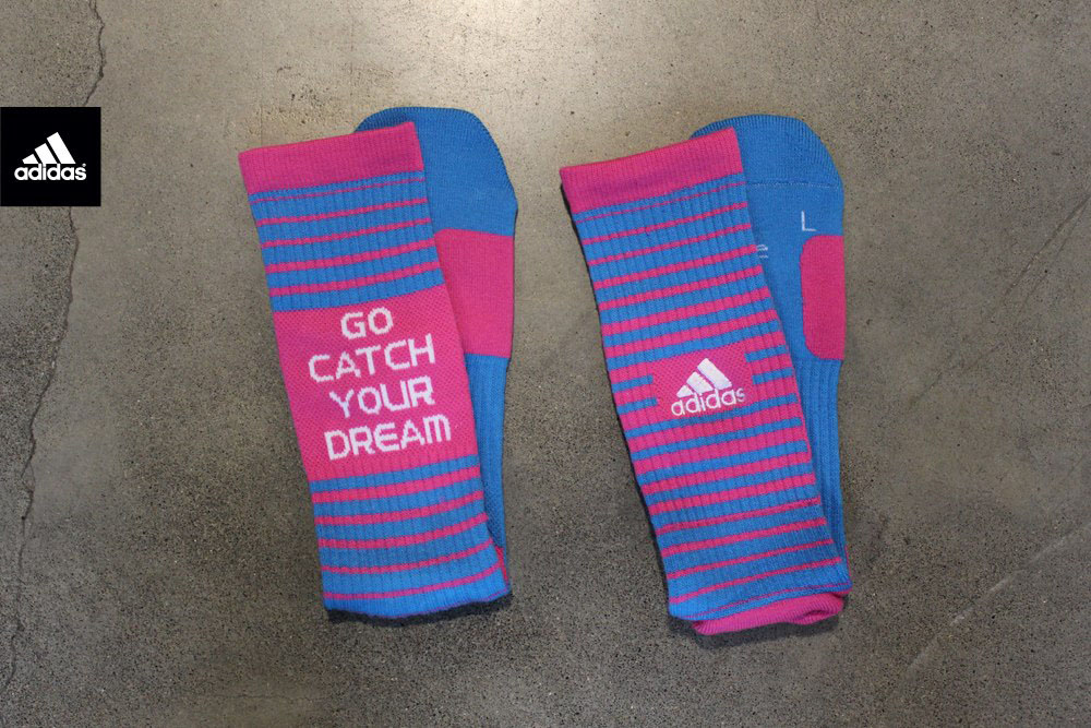 RG3 x adidas Team Speed Crew Socks Inspire Collection Cyan Bloom c05a56e87