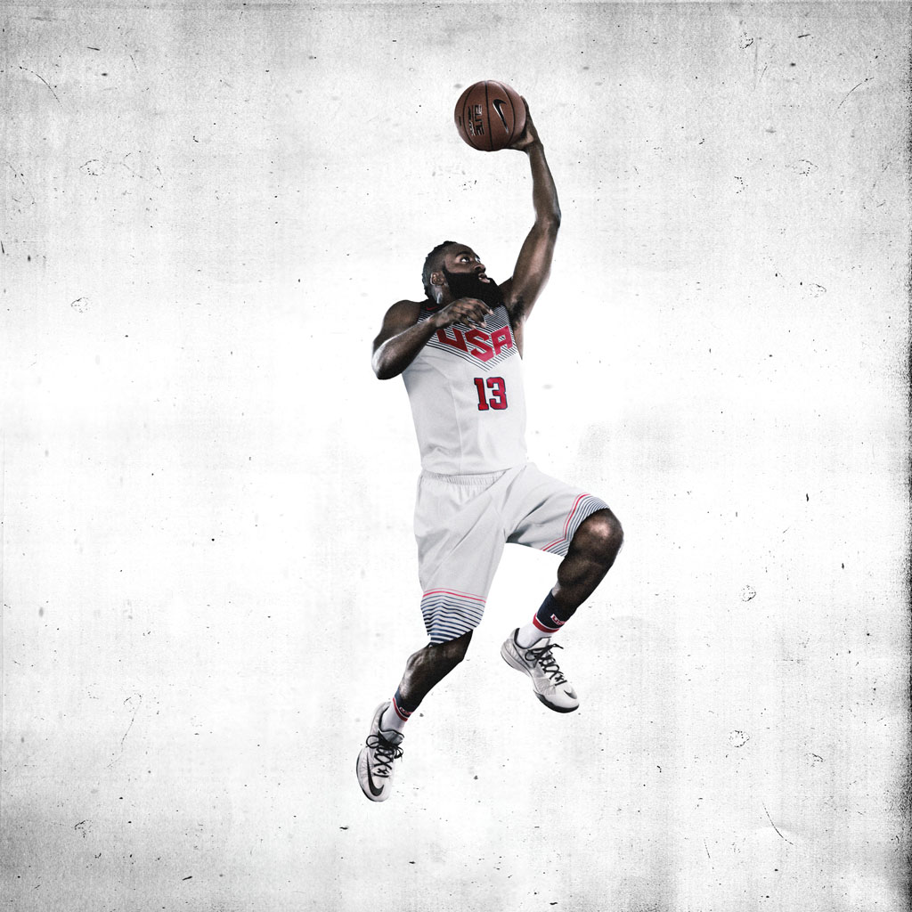 James Harden Quadruple Team: Nike Basketball Unveils 2014 USA Basketball Uniforms