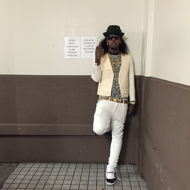 Trinidad James wearing Air Jordan XI 11 Concord