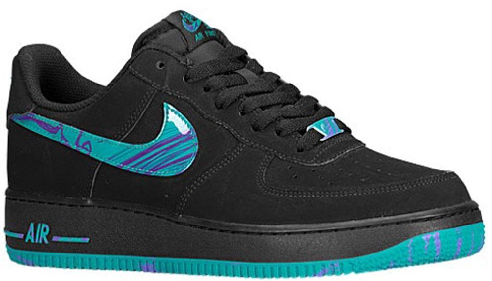 Nike Air Force 1 Low Black/Turbo Green-Purple Venom
