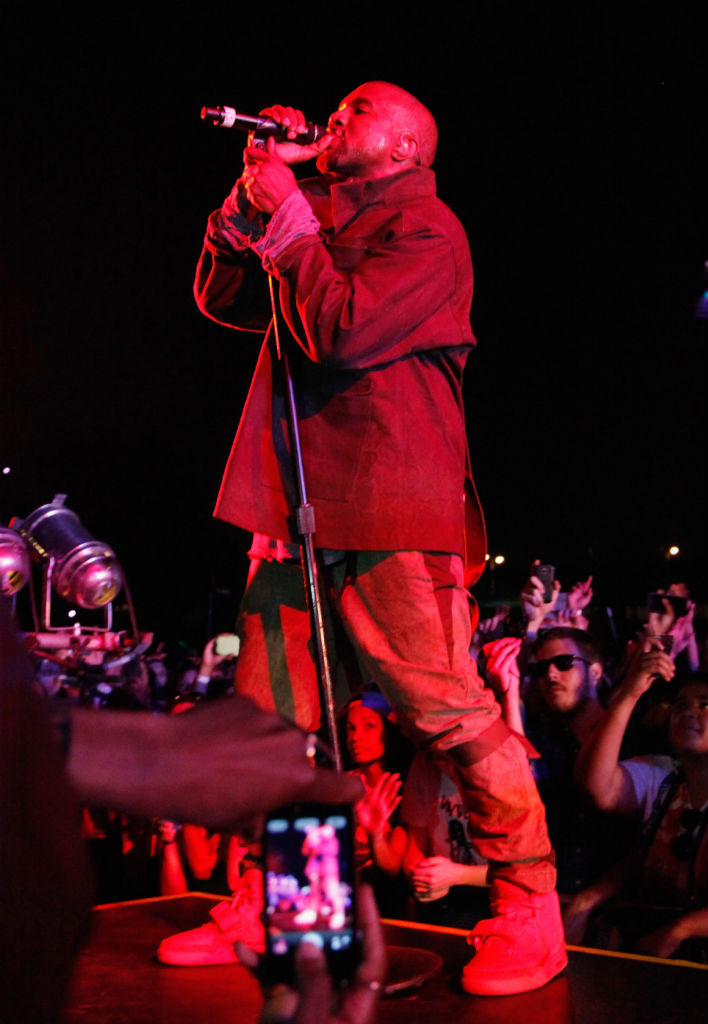 Kanye West wears Nike Air Yeezy 2 All-Red at Governor's Ball (9)