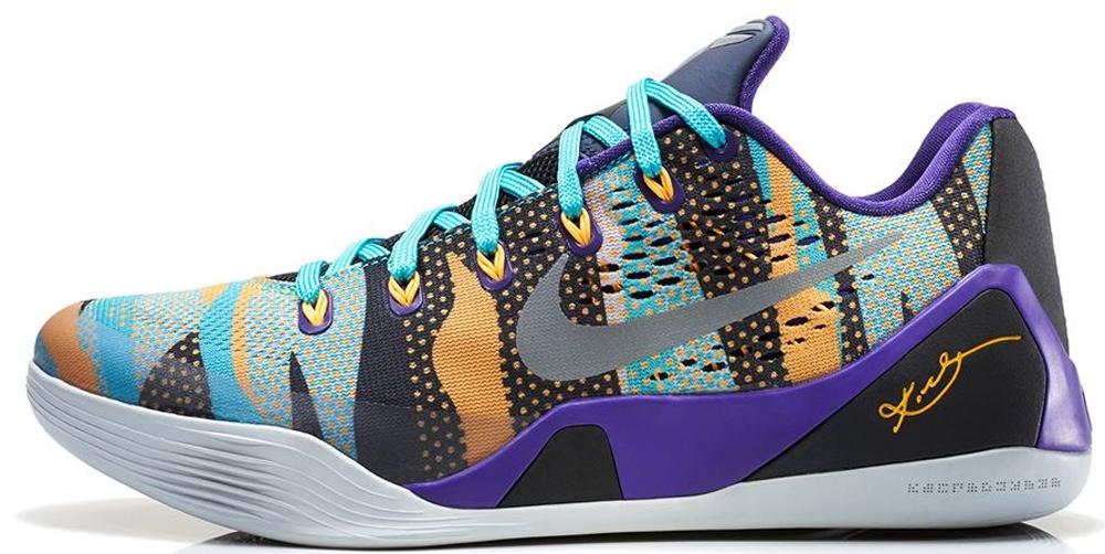 Nike Kobe 9 EM Court Purple/Reflective Silver-Atomic Mango-Sport Turquoise