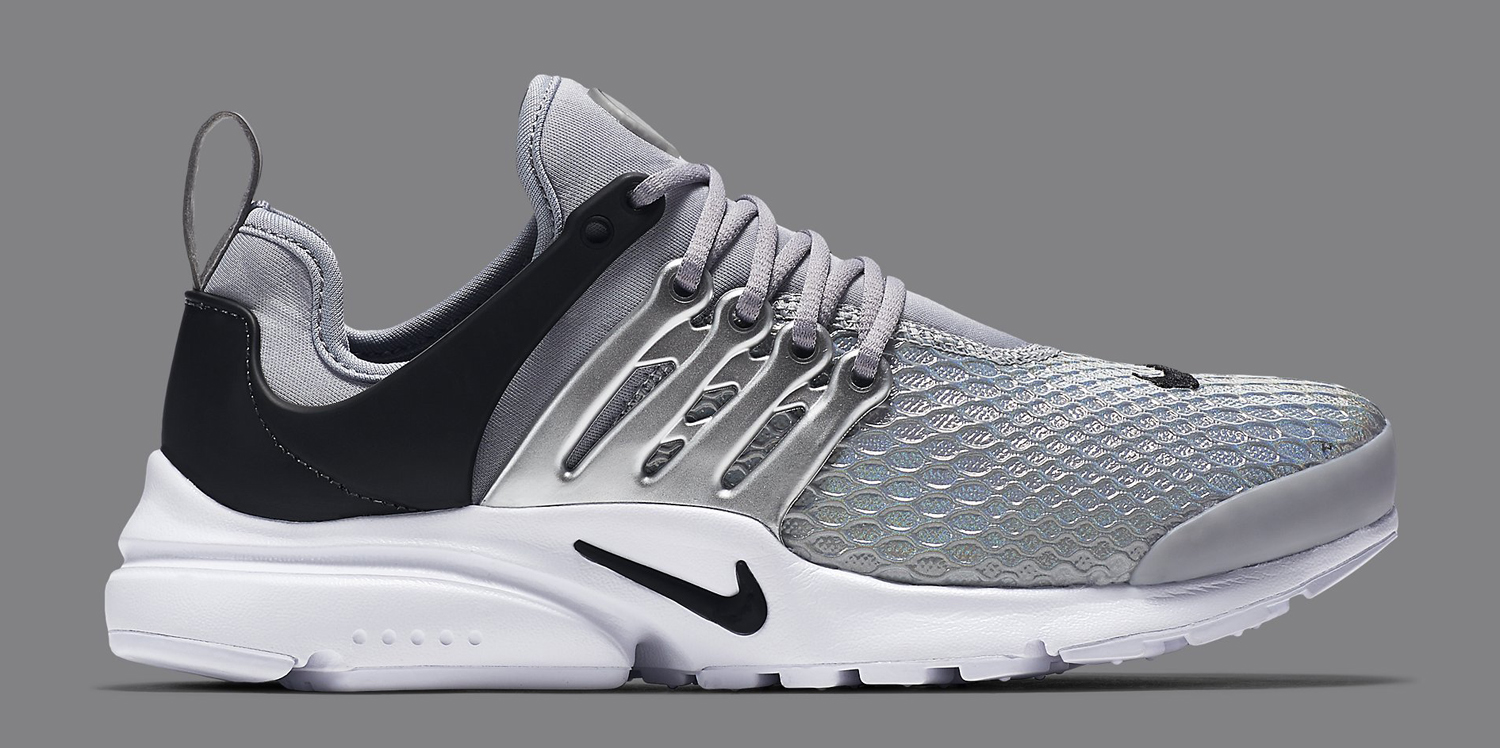 Silver Nike Air Presto Lateral Side