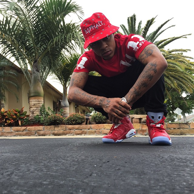 b40c2279ded097 Bow Wow wearing Air Jordan VI 6 Slam Dunk