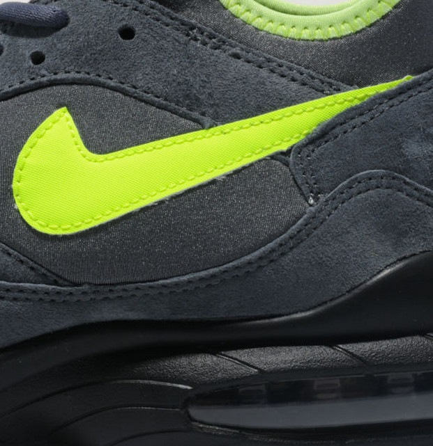 Nike Air Max 93 size? Exclusive in Grey Volt upper detail