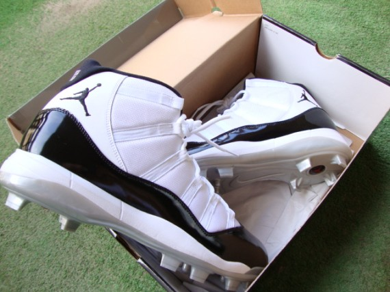 on sale 749d4 861d9 Along with CC s Cool Grey s, these  Concord  XI cleats are easily one of  the most coveted Jordan cleats out there. Something we would have  definitely seen ...