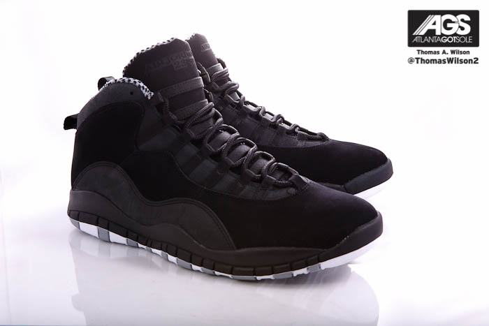 Air Jordan 10 X Retro Shoes Black White Stealth 310805-003 (1)