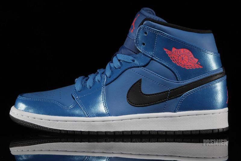 new style ff6fe 227d6 Air Jordan I 1 Mid Sport Blue 554724-423 (1)