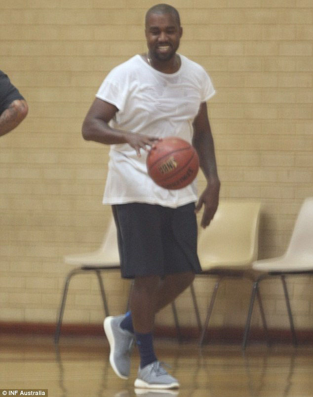 Kanye West wearing adidas Pure Boost Grey