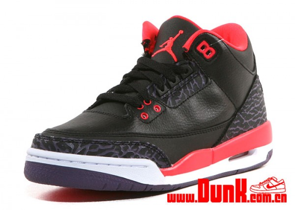 db5084b0cbfe Air Jordan 3 Retro GS - Black Bright Crimson